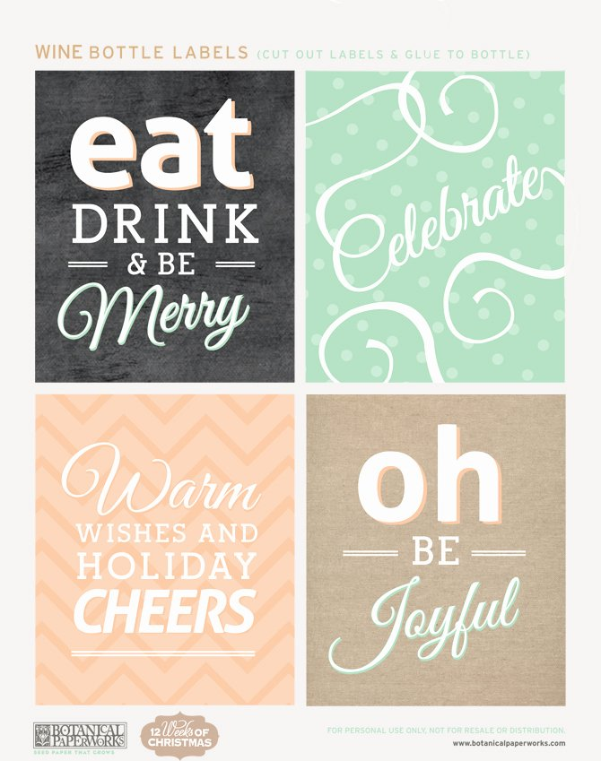 Champagne Bottle Label Template Fresh Free Printable Holiday Bottle Labels and Gift Tags Blog