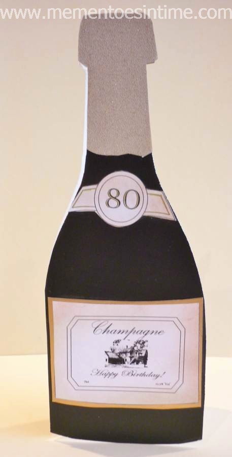 Champagne Bottle Label Template Luxury Card Making Ideas Mementoes In Time