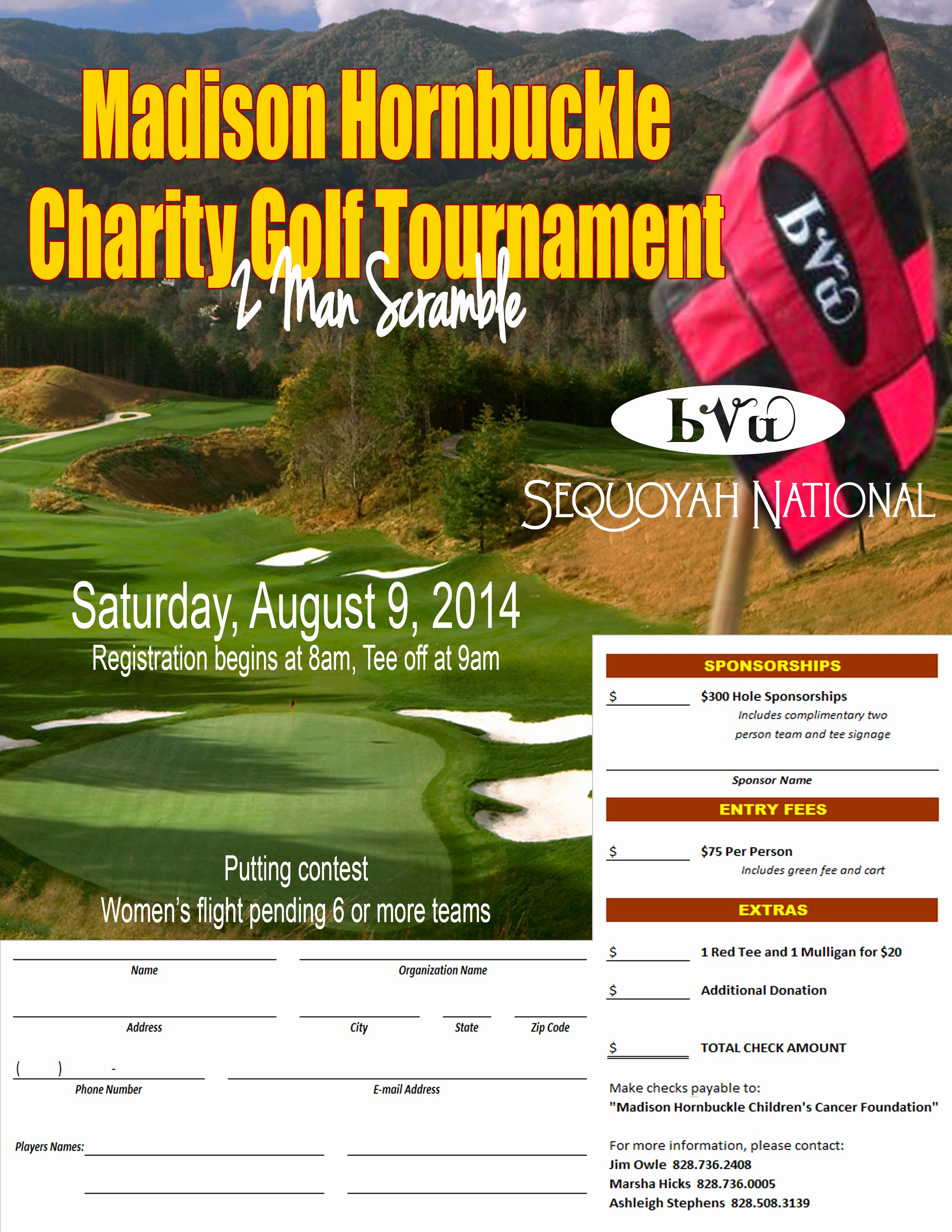 Charity Golf tournament Flyer Awesome Madison Hornbuckle Charity Golf tournament Flyer
