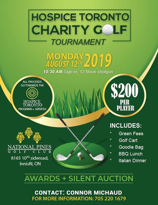 Charity Golf tournament Flyer Beautiful Adding Life to Days Hospice toronto