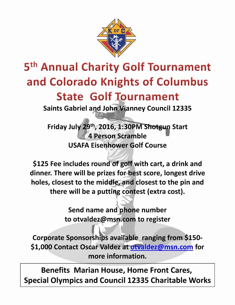 Charity Golf tournament Flyer Inspirational Charity Golf tournament Benefits Marian House Catholic Charities Of Central Colorado