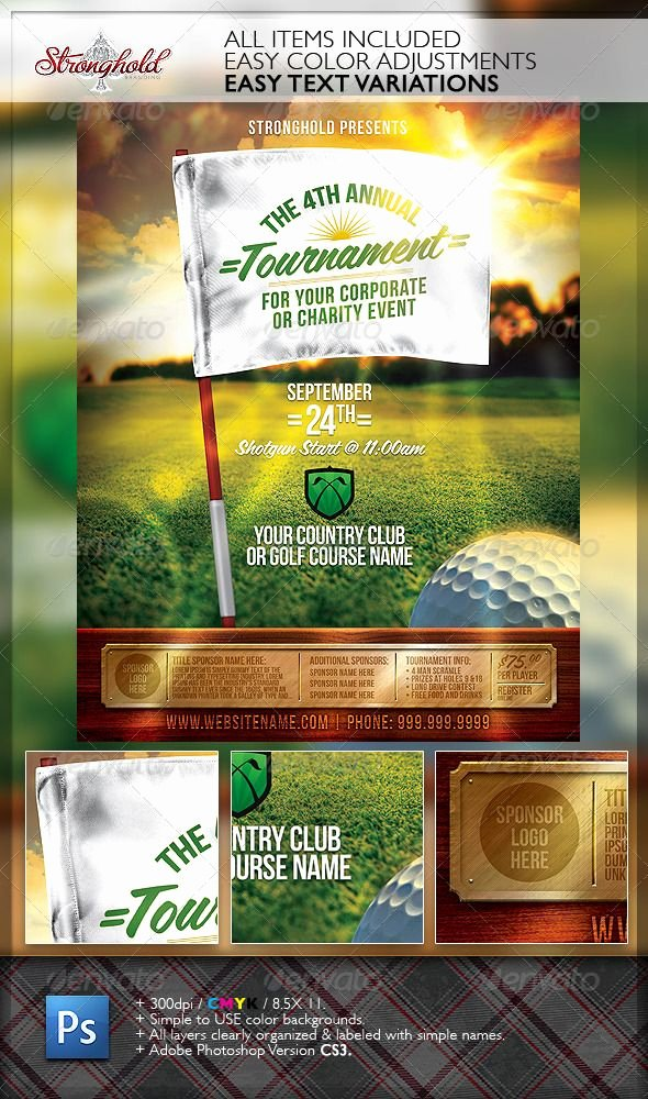 Charity Golf tournament Flyer Lovely Golf tournament event Flyer Template