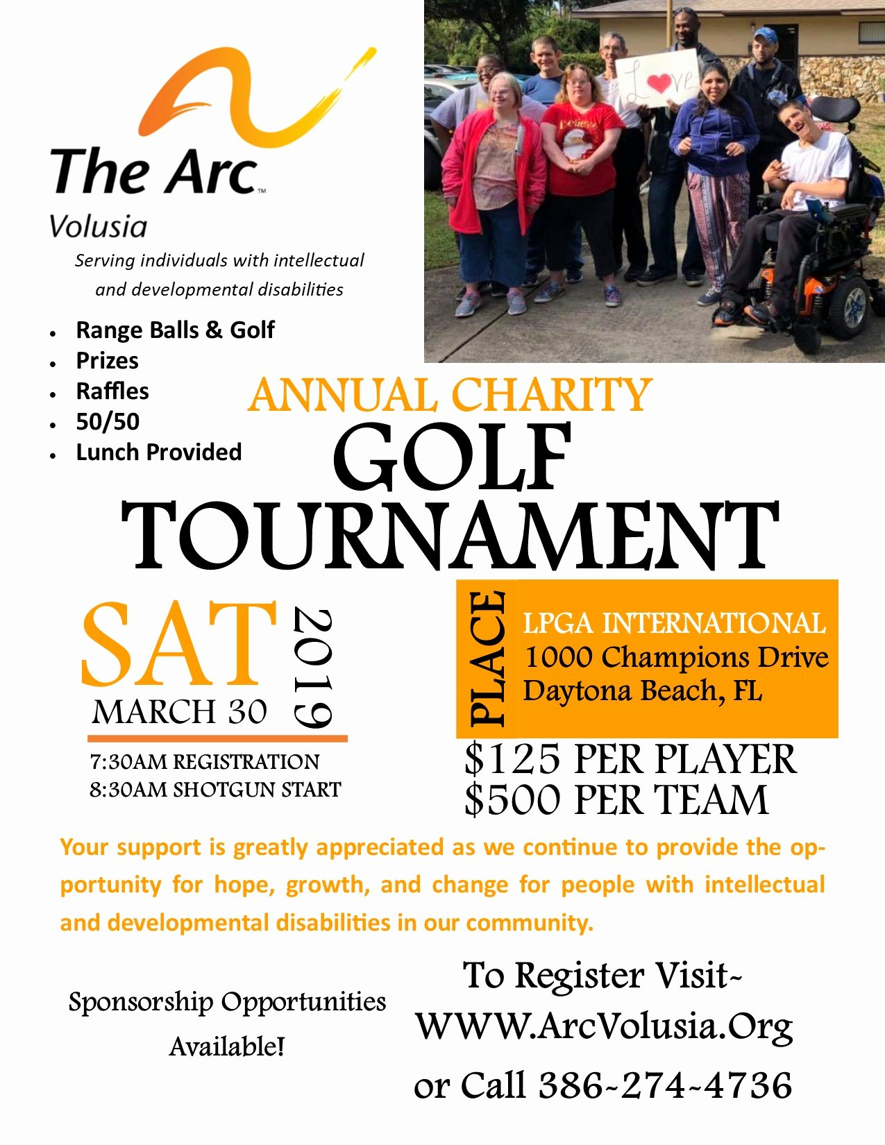 Charity Golf tournament Flyer Lovely the Arc Volusia – Providing the Opportunity for Hope Growth and Change
