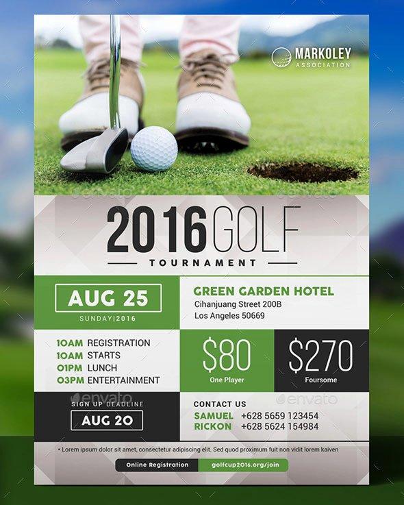 Charity Golf tournament Flyer New 25 Best Sport event Flyer Templates Print