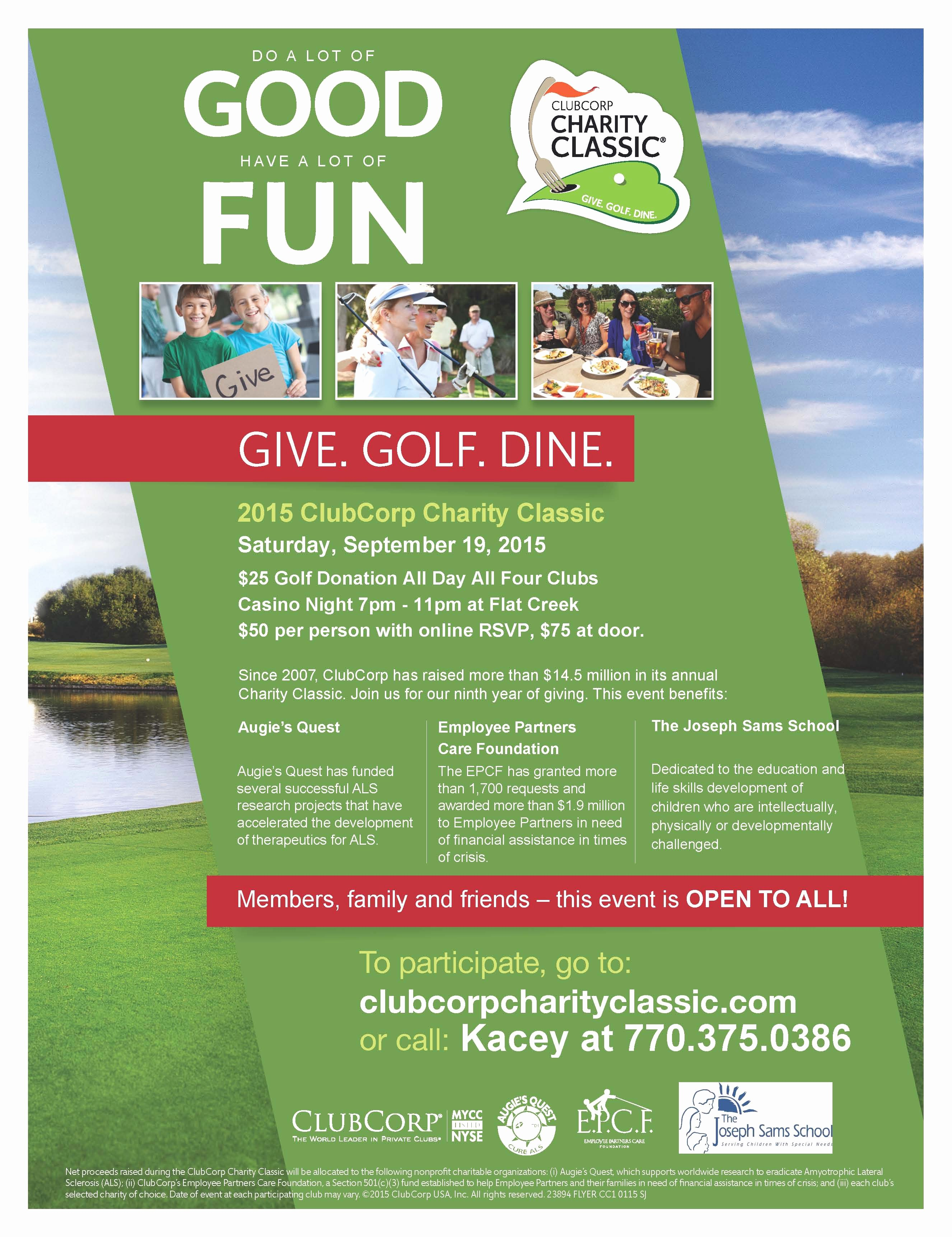Charity Golf tournament Flyer New Golf and Casino Night Fundraiser