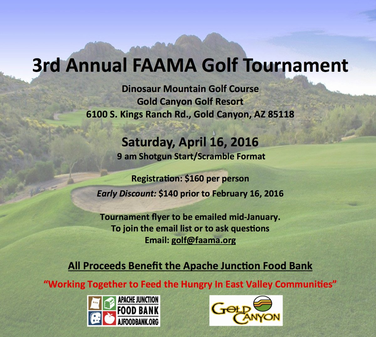 Charity Golf tournament Flyer Unique Save the Date 2016 Faama Charity Golf tournament – Faa Managers association