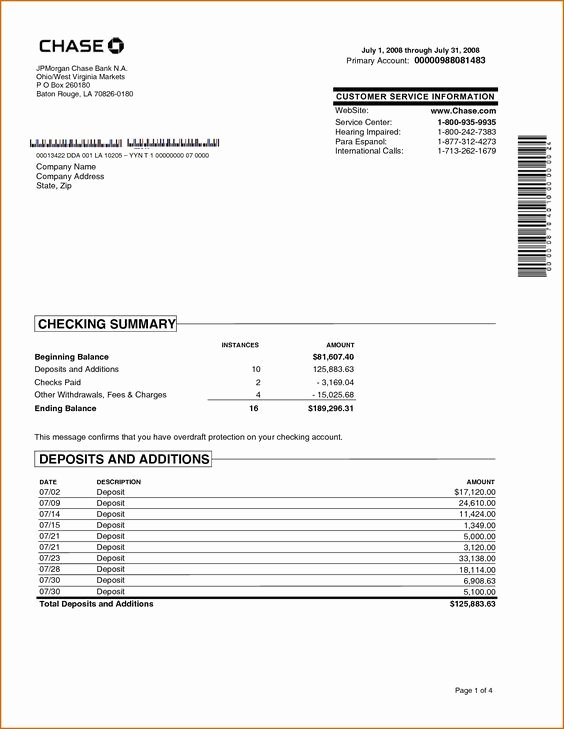 Chase Bank Statement Generator Lovely Chase Bank Statement Line Template Best Template Collection Chase In 2019