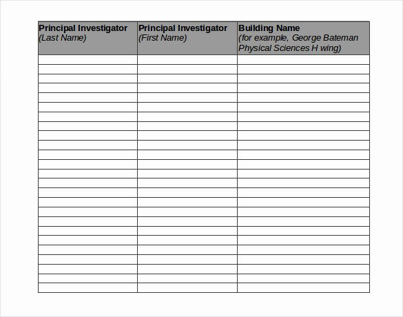 Chemical Inventory List Template New 15 Chemical Inventory Templates – Free Sample Example