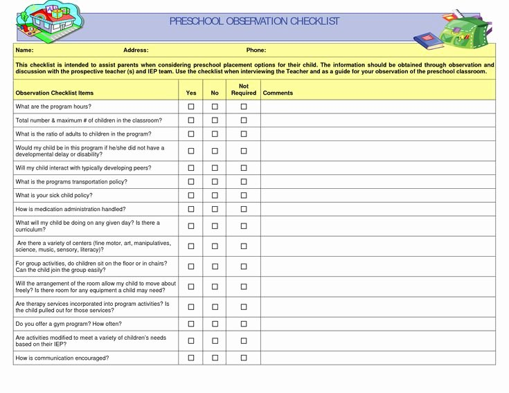 Child Behavior Checklist Pdf Unique Preschool Teacher Observation Checklist Preschool Fun Pinterest
