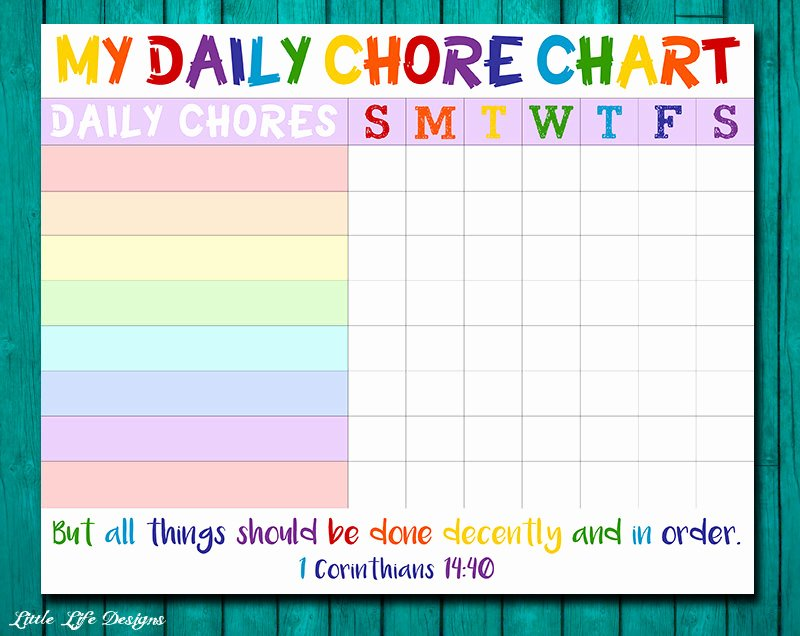 Child Behaviour Checklist Free Download Inspirational Chore Chart for Kids Chore Chart Printable Chore List Kids