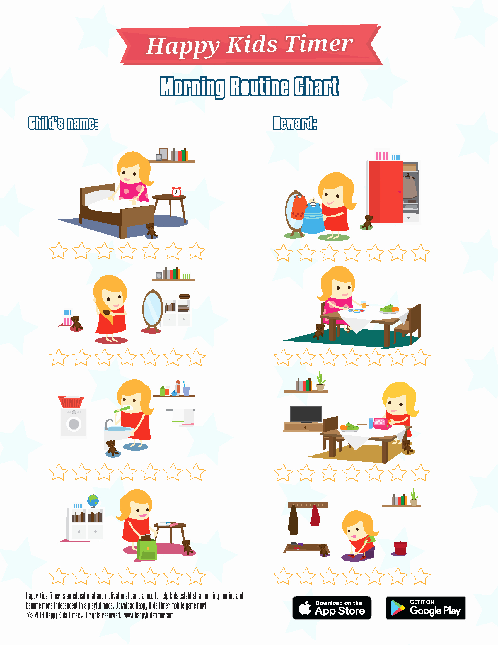 Child Behaviour Checklist Free Download Unique Download Free Printable Morning Routine Chart