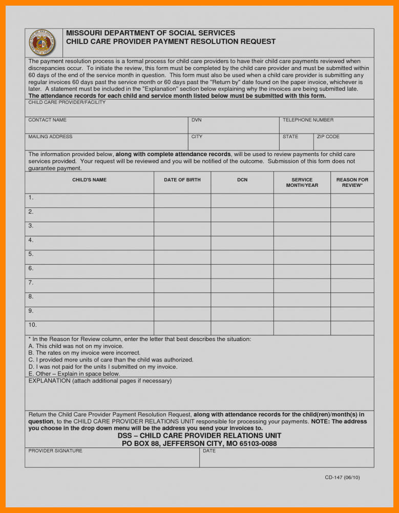 Child Care Invoice Template Luxury 7 Babysitting Invoice Template