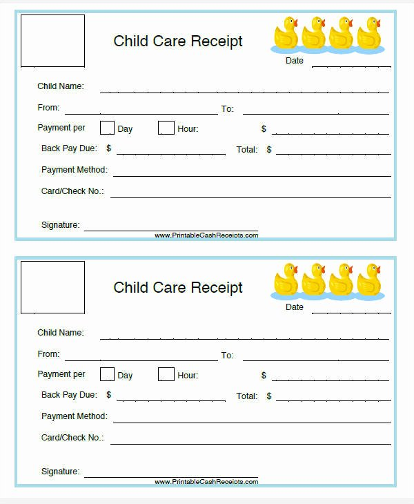 Child Care Invoice Template Unique 7 Daycare Invoice Templates Examples In Word Pdf