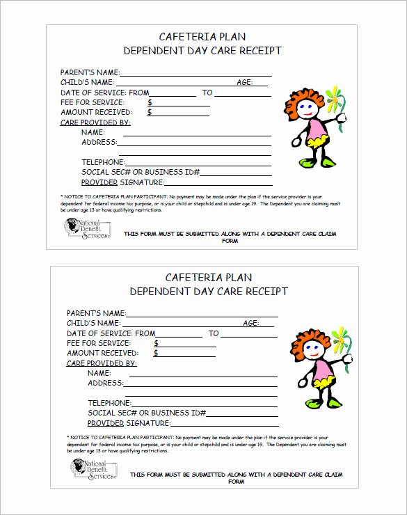 Child Care Payment Receipt Beautiful 20 Daycare Receipt Templates Doc Pdf