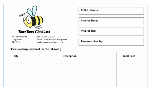 Child Care Payment Receipt Beautiful New Invoice & Receipt Templates Mindingkids