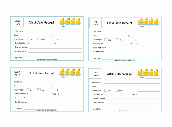 Child Care Receipt Template Inspirational 20 Daycare Receipt Templates Doc Pdf