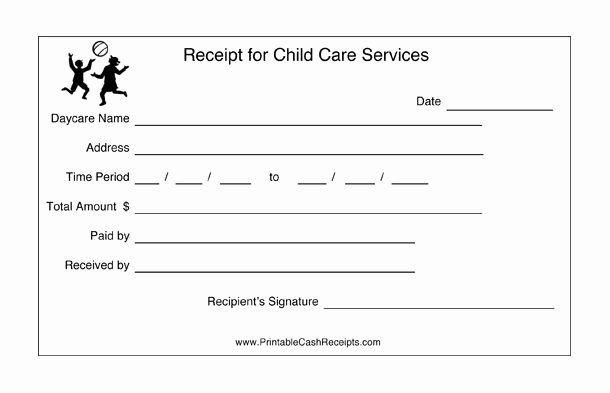 Child Care Receipt Template New 17 Best Childcare forms Images On Pinterest