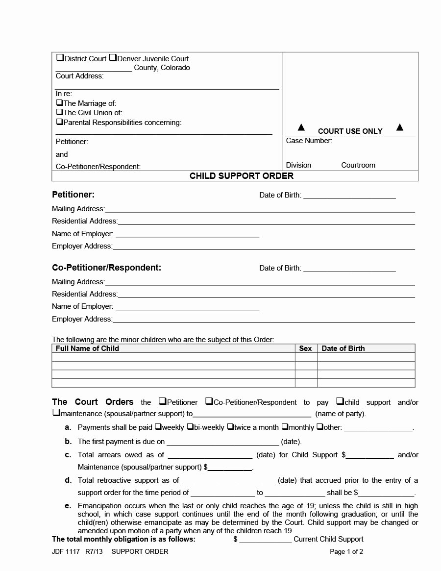 Child Support Agreement Letter Beautiful 32 Free Child Support Agreement Templates Pdf & Ms Word