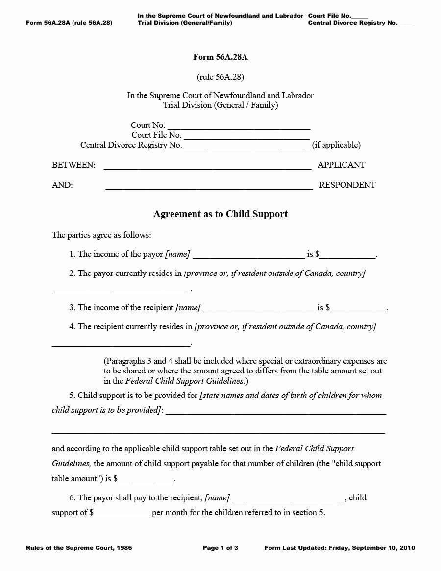 Child Support Agreement Letter Best Of 32 Free Child Support Agreement Templates Pdf & Ms Word