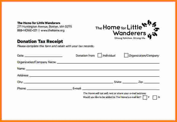 Child Support Receipt Template Fresh 5 Non Profit Receipt Template