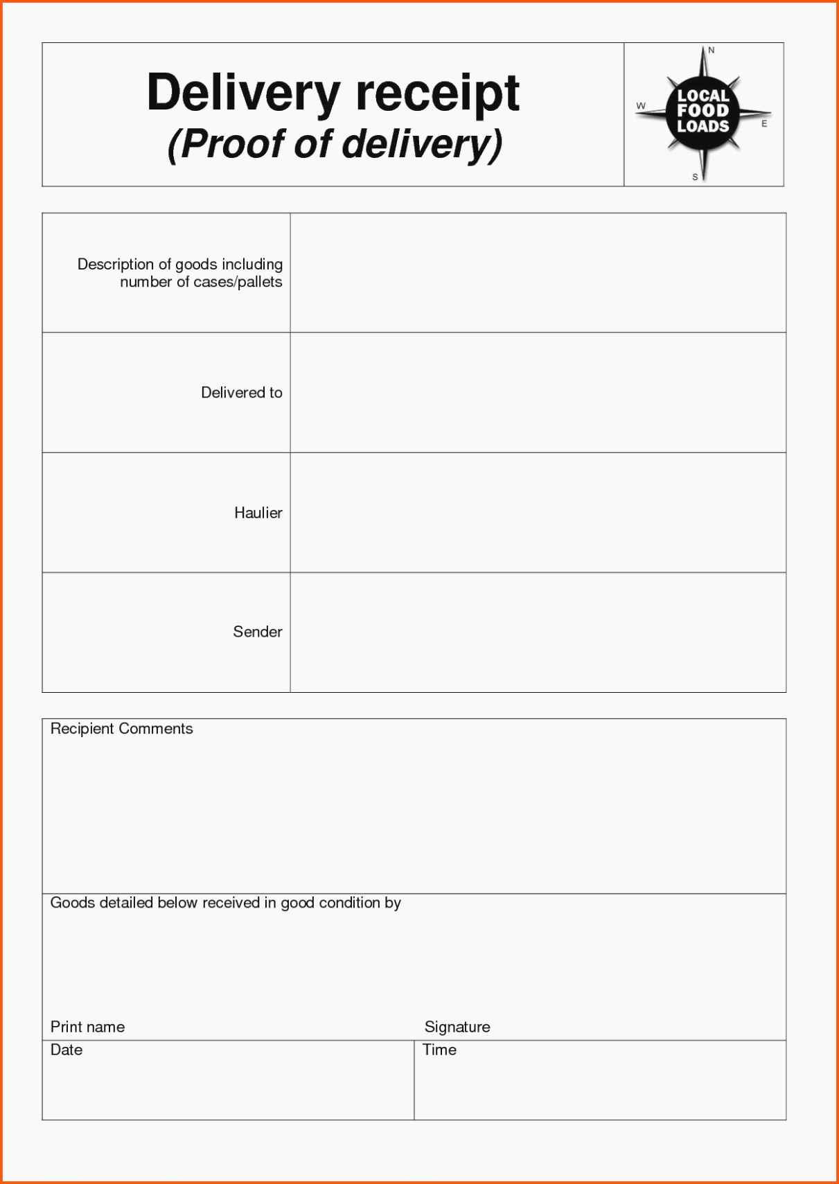 Child Support Receipt Template Unique Proof Of Payment form Template