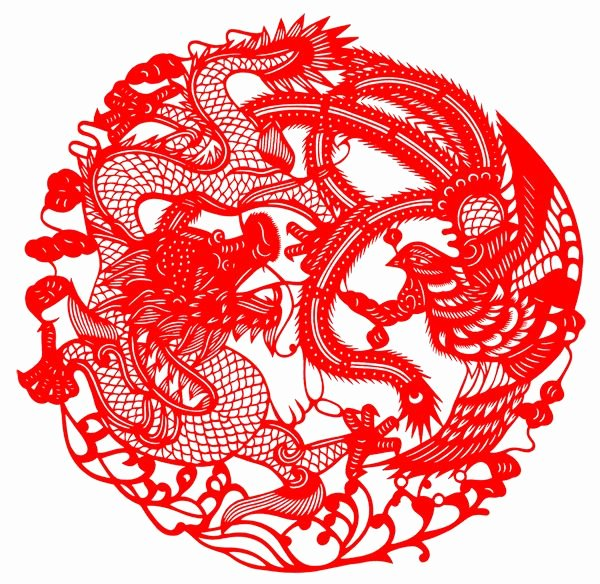 Chinese Paper Cuts Templates Awesome Chinese Paper Cut Art Dragon and Phoenix by Unknown