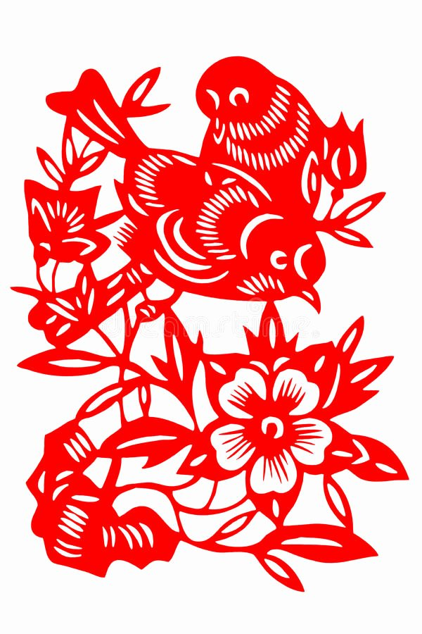 Chinese Paper Cuts Templates Lovely Chinese Paper Cut Bird Royalty Free Stock Graphy