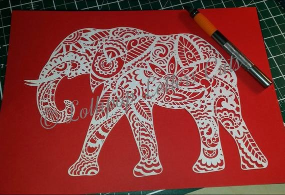 Chinese Paper Cuts Templates Luxury Paisley Elephant Diy Paper Cut Template Mercial Use