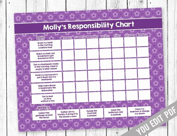Chore Chart for Teens Awesome Chore Chart Teen Chore Chart Incentive Chart Allowance