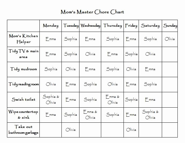 Chore Chart for Teens Fresh Pin On Projects to Try