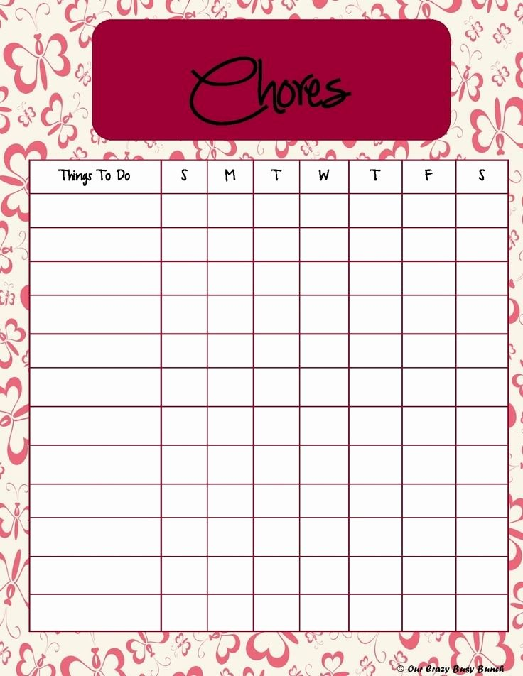 Chore Chart for Teens Inspirational Daily Chores for Teenagers Free Printable Kid S Chore Chart Free Printables