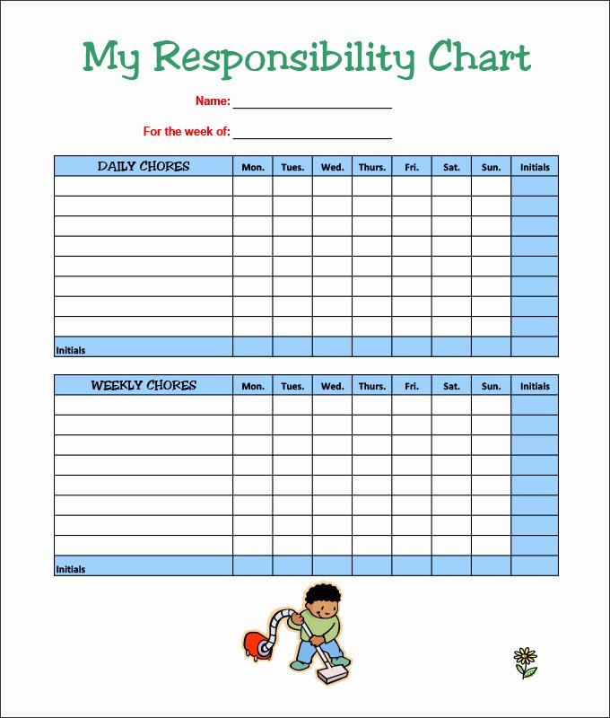 Chore Chart Template Word New 7 Kids Chore Chart Templates Free Word Excel Pdf Documents Download