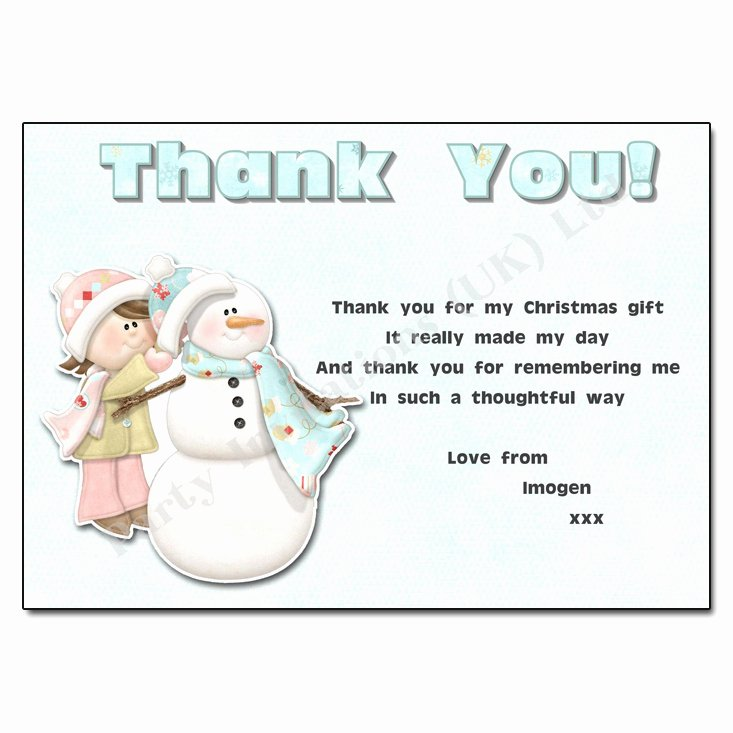 Christmas Thank You Notes Awesome Building A Snowman Thank You Note
