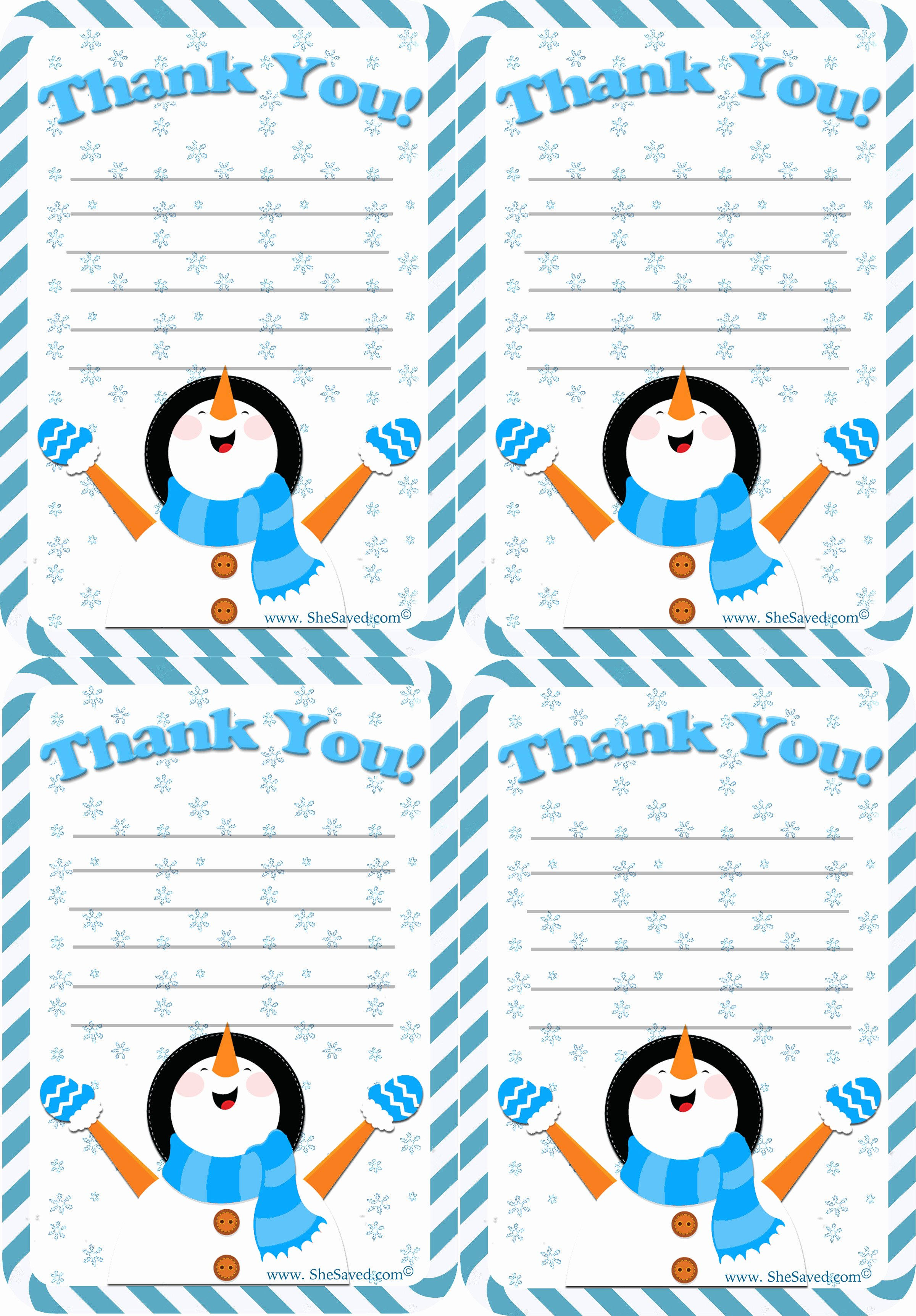 Christmas Thank You Notes Beautiful Free Holiday Thank You Letter Printable