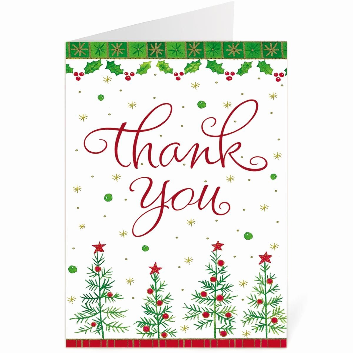 Christmas Thank You Notes Best Of Holiday Thank You Note Cards Bogo