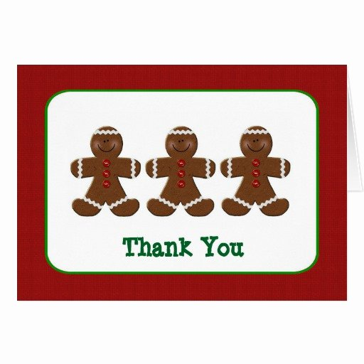 Christmas Thank You Notes Fresh Gingerbread Men Christmas Thank You Note Card