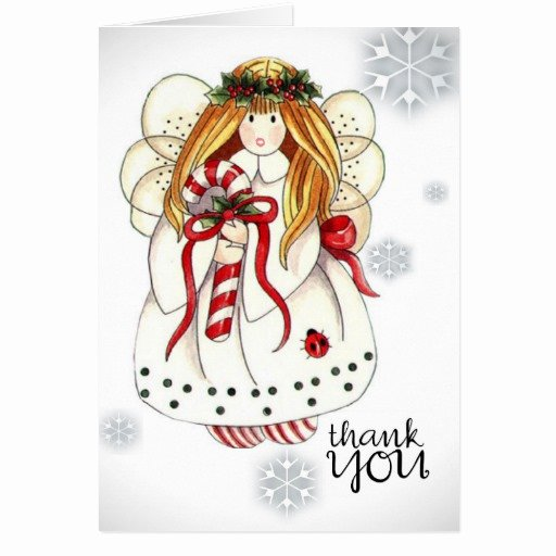 Christmas Thank You Notes Fresh Thank You Note to Christmas Angel Card