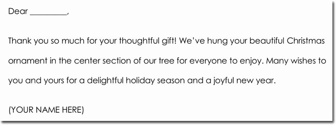 Christmas Thank You Notes Inspirational Christmas Gifts Thank You Note Card Letter Samples