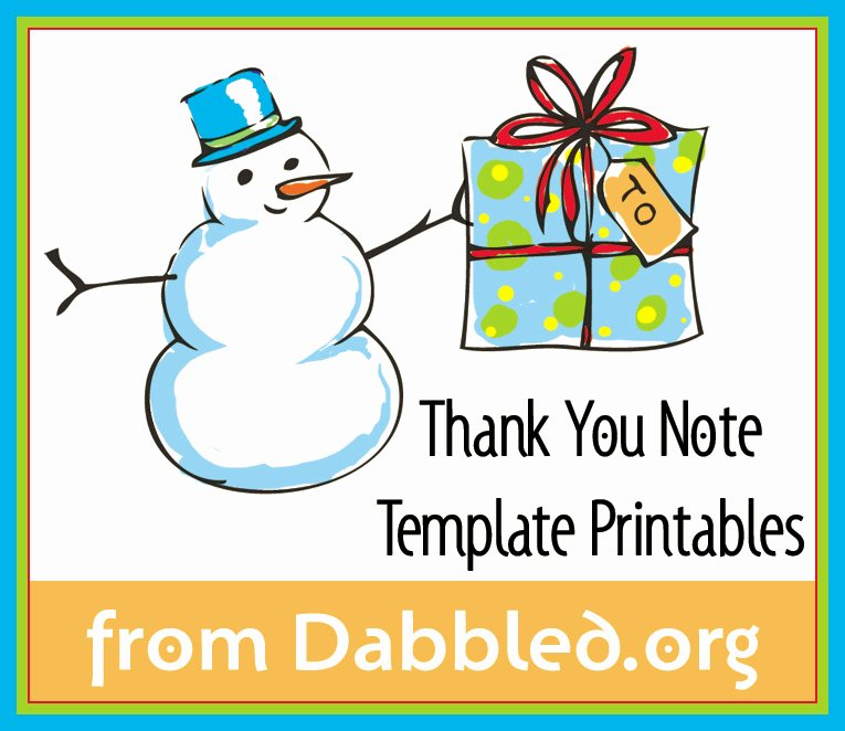 Christmas Thank You Notes Inspirational Dabbled
