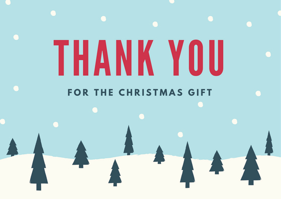Christmas Thank You Notes Luxury Christmas Thank You Card Printables