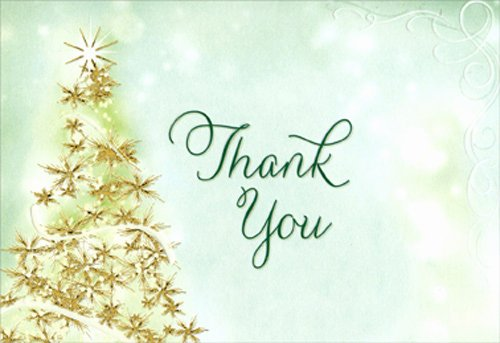 Christmas Thank You Notes Luxury Sparkling Tree Package Of 8 Designer Greetings Christmas Thank You Notes