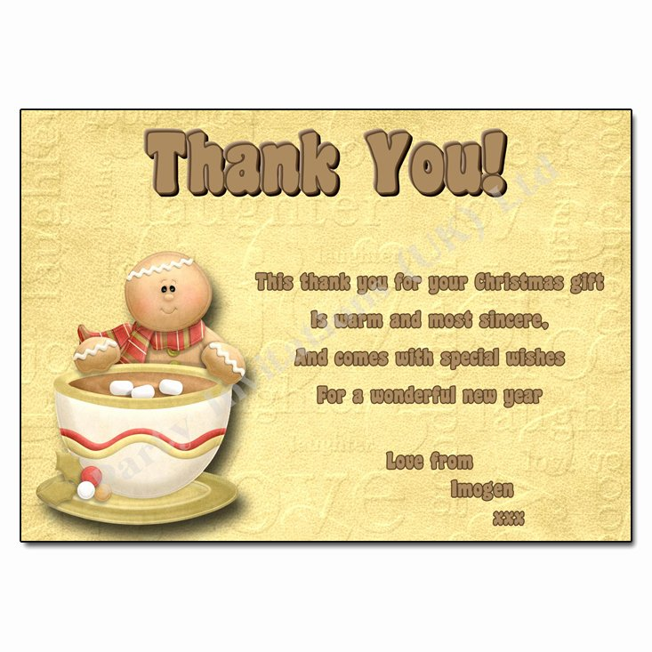 Christmas Thank You Notes New A Cup Of Good Cheer
