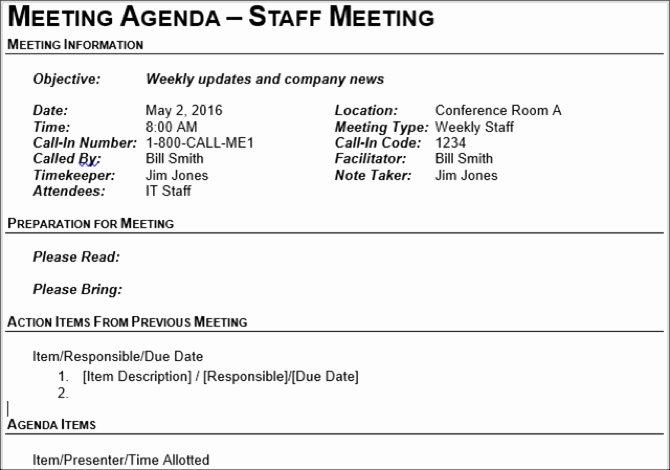 Church Board Meeting Agenda Lovely 15 Free Meeting Agenda Templates for Microsoft Word