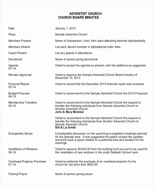 Church Board Meeting Agenda Luxury 19 Board Meeting Minutes Examples Word Apple Pages Google Docs
