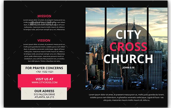 Church Bulletin Templates Indesign Awesome 47 Nice Church Brochure Templates Psd & Indesign – Desiznworld