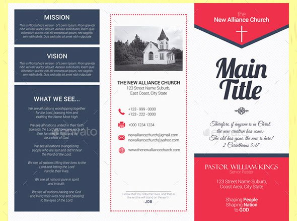 Church Bulletin Templates Indesign Beautiful 20 Nice Church Brochure Templates Psd & Indesign – Desiznworld