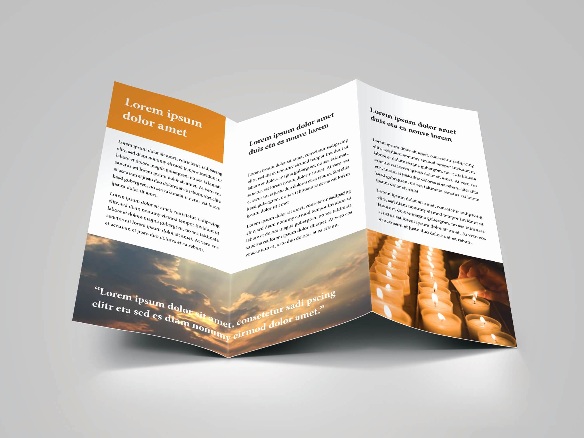 Church Bulletin Templates Indesign Inspirational Church Bulletin Trifold Brochure Download 6 Layout Pages