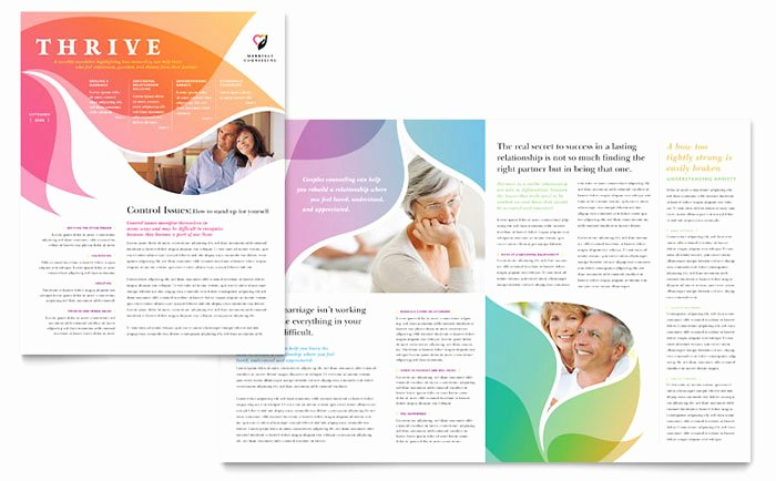 Church Bulletin Templates Microsoft Publisher Awesome Marriage Counseling Newsletter Template Design