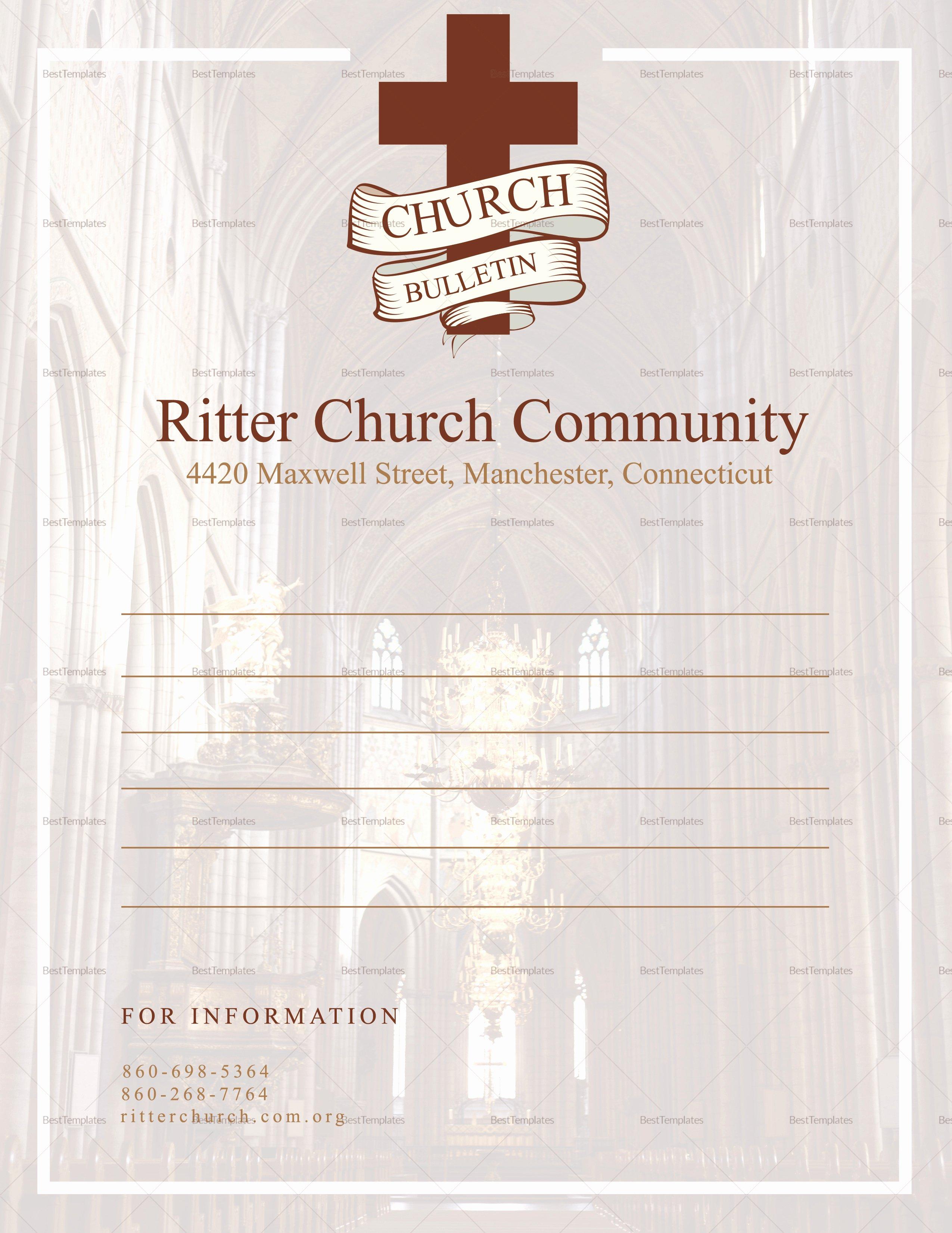 Church Bulletin Templates Microsoft Publisher Beautiful Church Bulletin and Connect Card Flyer Design Template In