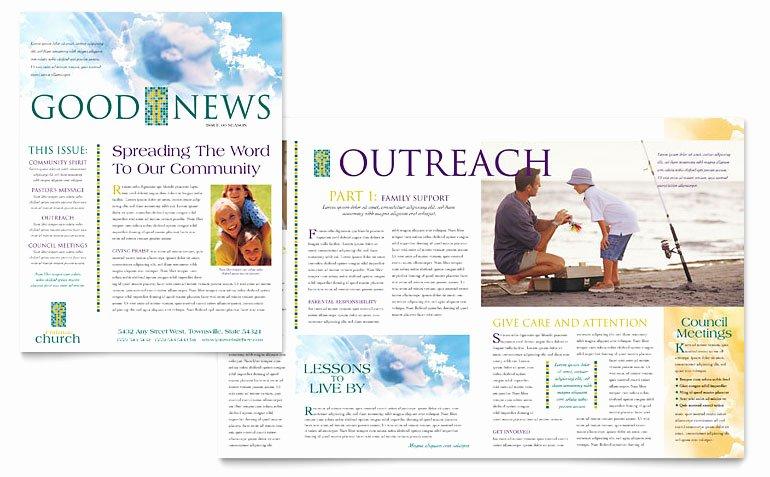 Church Bulletin Templates Microsoft Publisher Elegant Christian Church Newsletter Template Word & Publisher